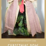 DIY Christmas Bow Door Hanging
