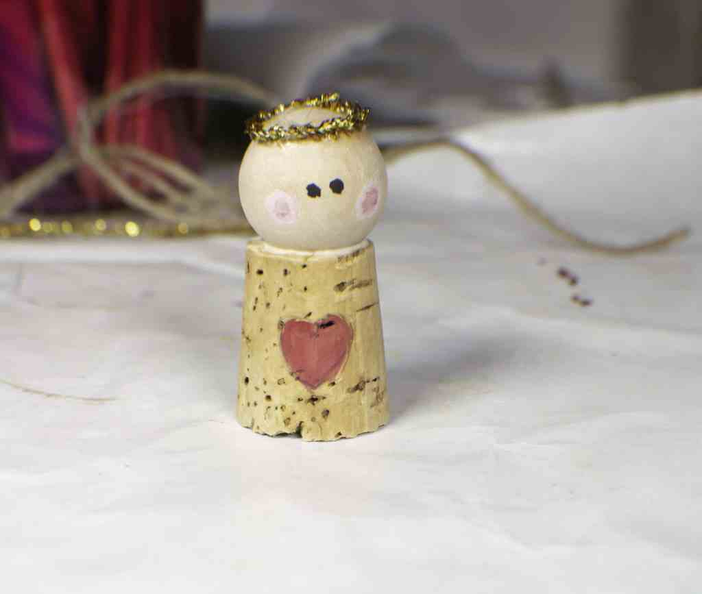 How to make a wine cork Christmas angel ornament