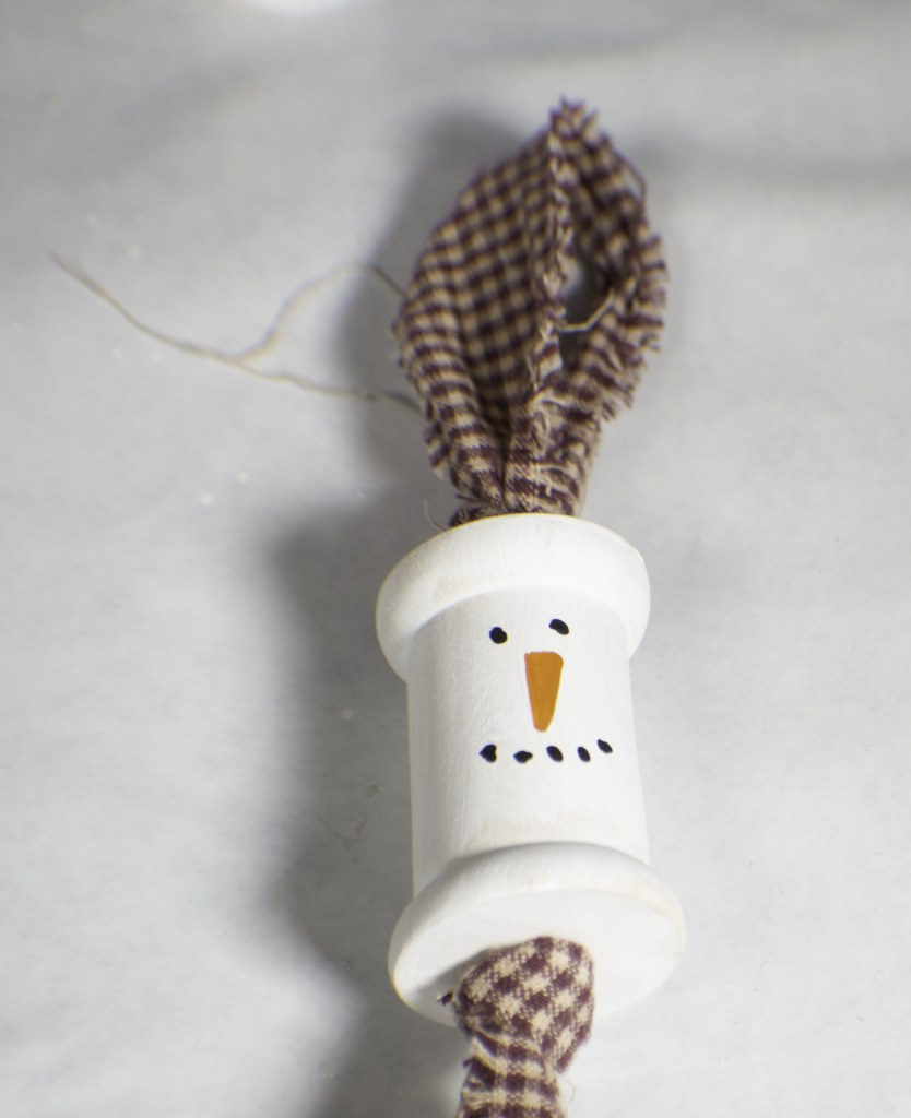 Make a hanging Snowman Ornament