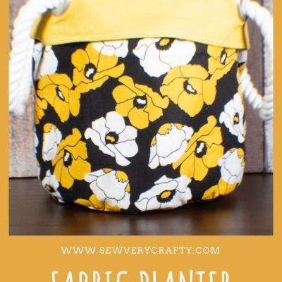 How to Make a Fabric Plant Pot Cover