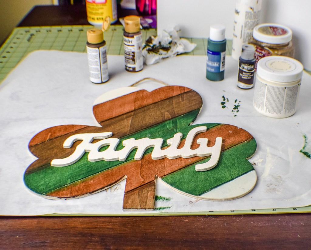 Paint a rustic shamrock