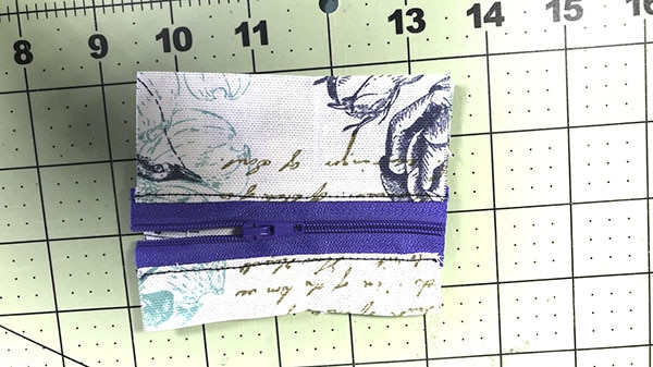 Make a key chain wallet
