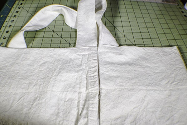 Make a drop cloth criss cross apron
