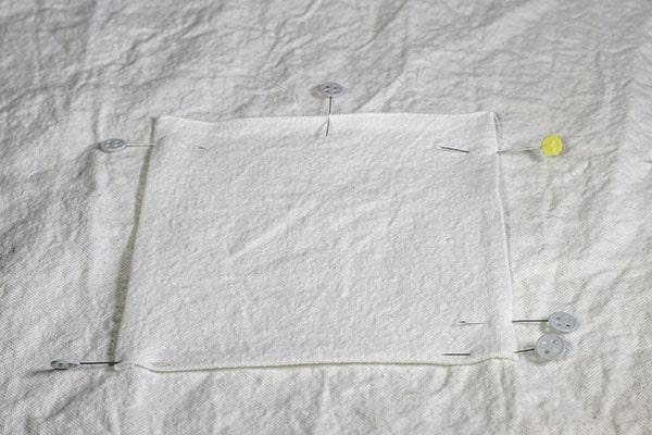Make a drop cloth criss cross apron