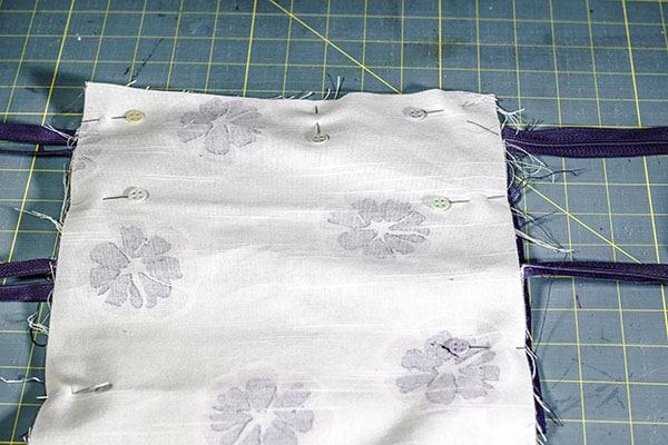 How to make a double zipper cross body bag