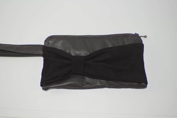 How to make a simple leather bow clutch