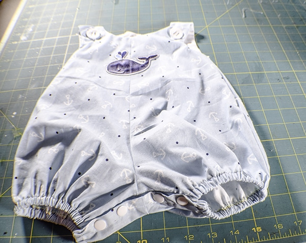 How to make a simple baby romper