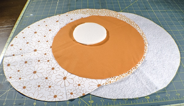 How to make a circular jewelry pouch