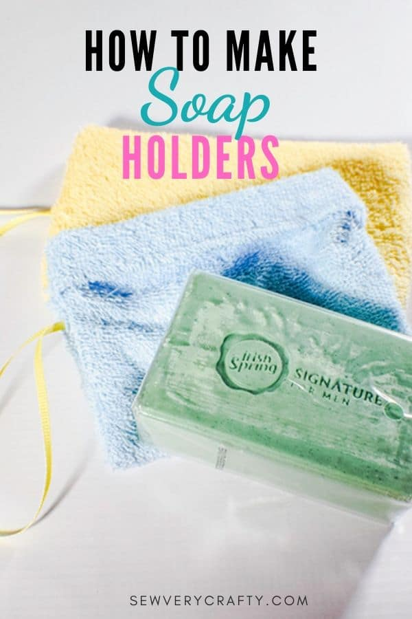 How to make a washcloth soap holder