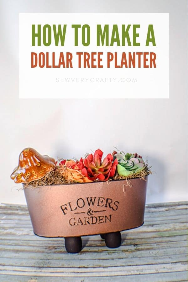 How to Make a Copper Dollar Tree Planter