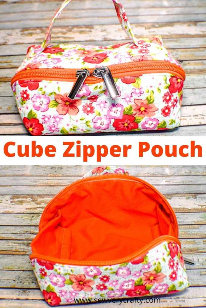 How to make a cube zipper pouch