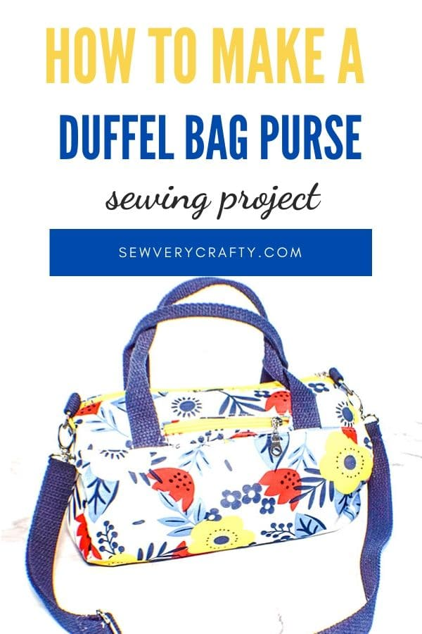 How to make a duffel bag purse