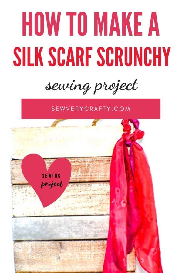 How to make a silk scarf scrunchy