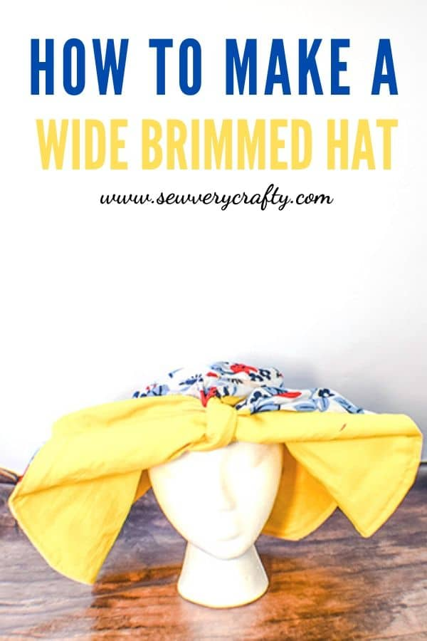How to make a reversible wide brimmed sun hat