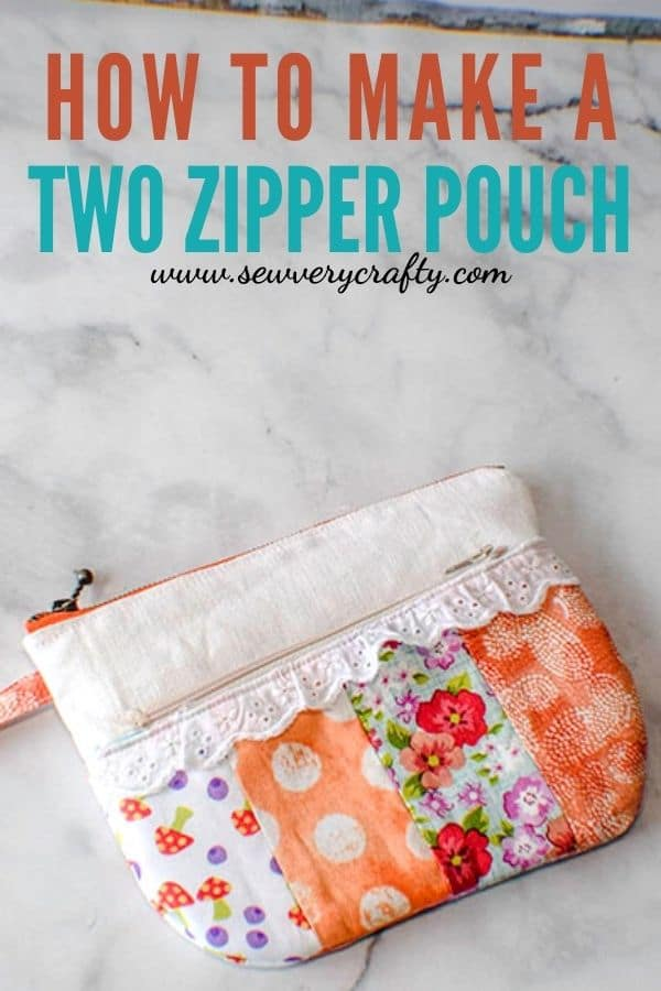 How to make a two zipper pouch