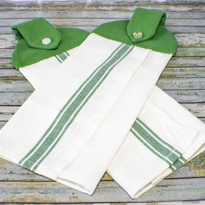 How to Make hanging dish towels