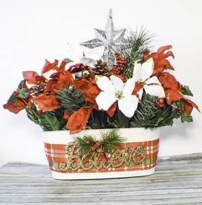 How to make a Dollar Tree Christmas Center Piece