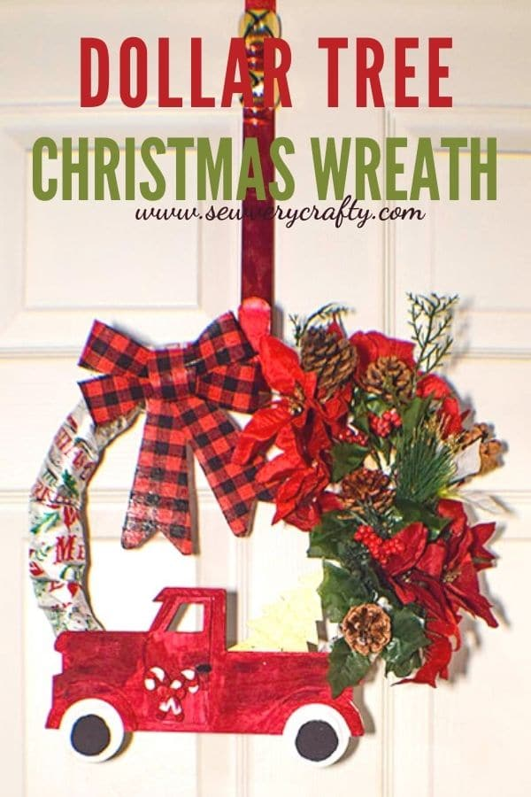 How to Make a Dollar Tree Christmas Wreath