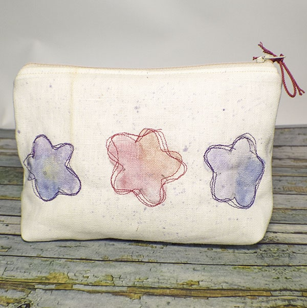 How to make a water color zipper pouch
