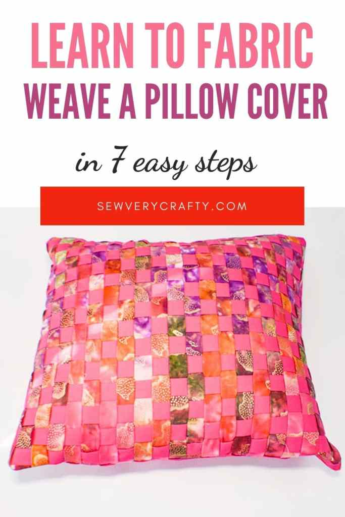 Learn to fabric weave a pillow cover