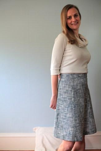 An A-Line Skirt in an Oscar de la Renta Woven