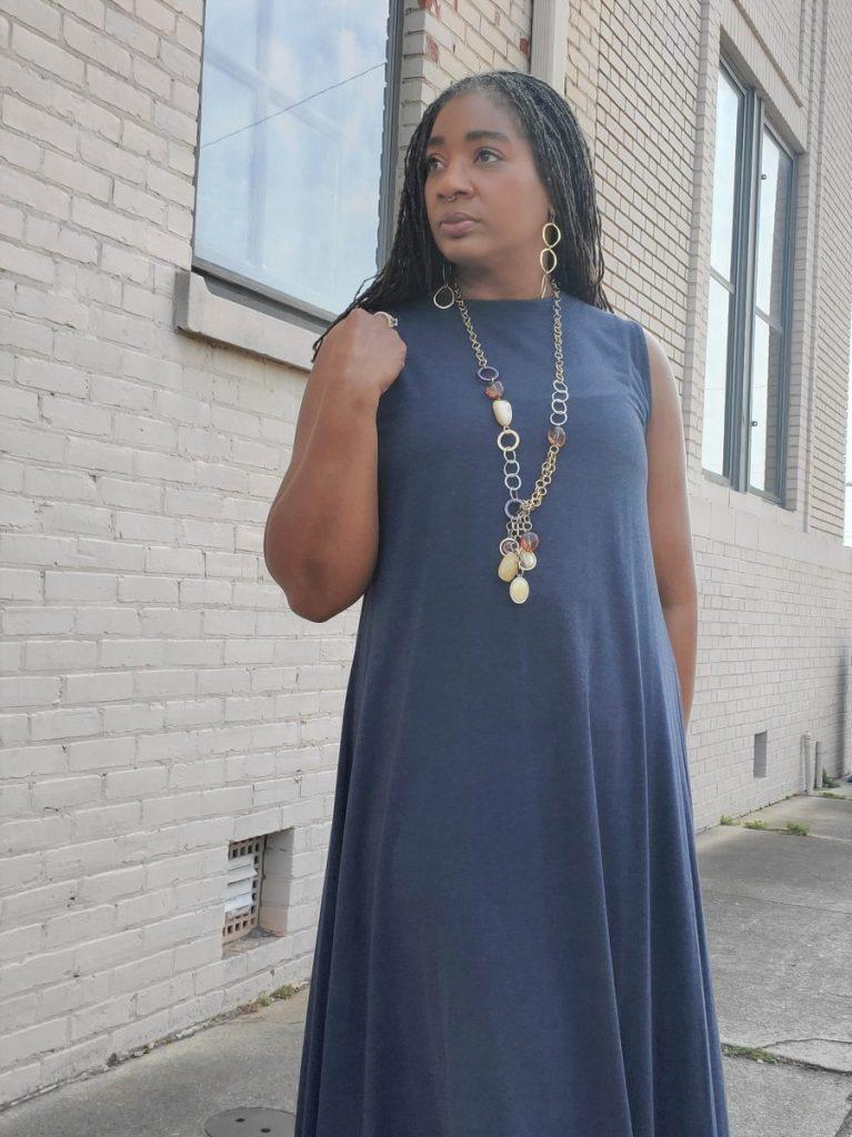 A-Line Knit Max Dress