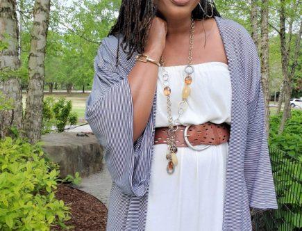 Butterick B6176 Striped Knit Kimono