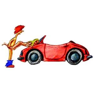 Поза для секса в машине на капоте Тачка Девушка упирается руками в капот лицом вниз Парень придерживает Девушка за ноги