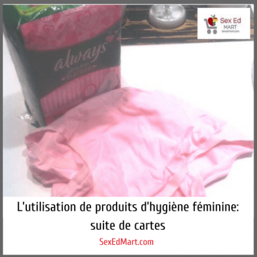 L'utilisation de produits d'hygiène féminine : suite de cartes