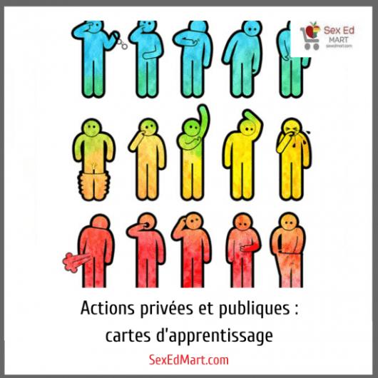 Actions privées et publiques : cartes d'apprentissage