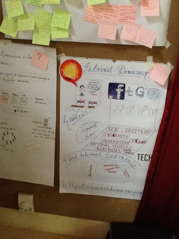 An illustration made by the Internet Democracy Project at a workshop