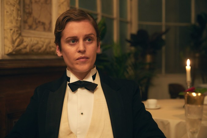 Image from Colette, showing Missy in a dinner jacket