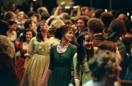 An image from Pride and Prejudice showing Elizabeth at a ball