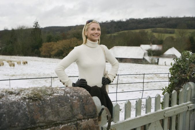 An image of Diaz standing in the snowy English countryside