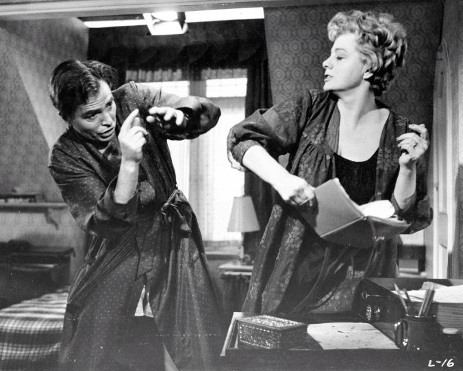 A scene from Lolita showing Charlotte and Humbert