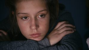 Adele looking sad in Blue is the Warmest Colour