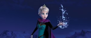Elsa producing ice from her hands