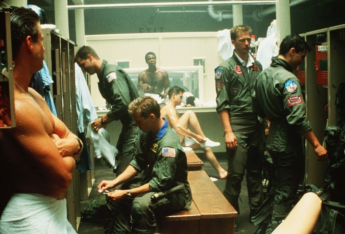 The infamous shower room in Top Gun