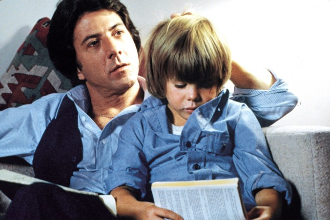 An image from Kramer vs Kramer of Billy and Ted, sitting comfortably together
