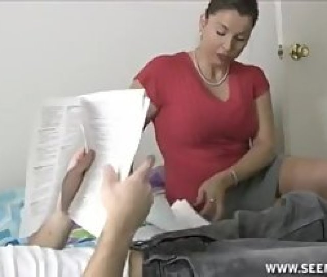 Hot Milf Starts Tutoring But He Whips Out Cock