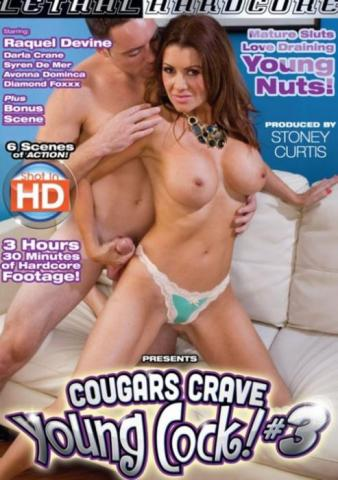 Cougars Crave Young Cock! #3, Porn DVD, Lethal Hardcore, Chucky Sleaze, Raquel Devine, Darla Crane, Syren De Mer, Avonna Dominica, Big Boobs, Big Butt, Cumshot, Cunnilingus, Facials, Gonzo, HD, MILF, One-on-One, Oral, Straight Sex