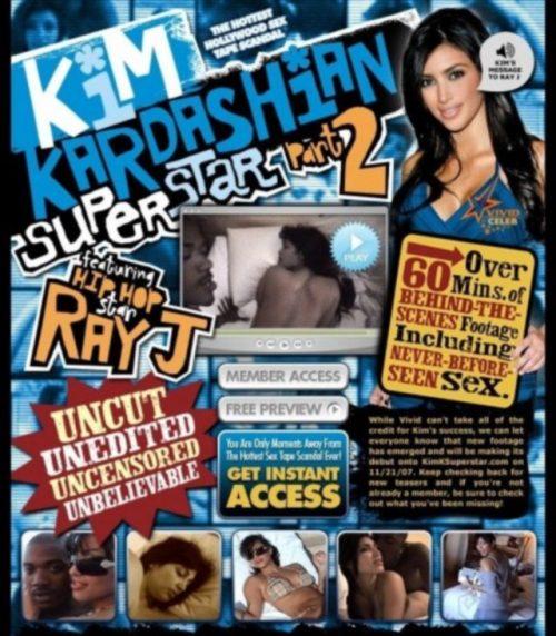 Kim Kardashian And Rapper Ray J Leaked Sex Tape