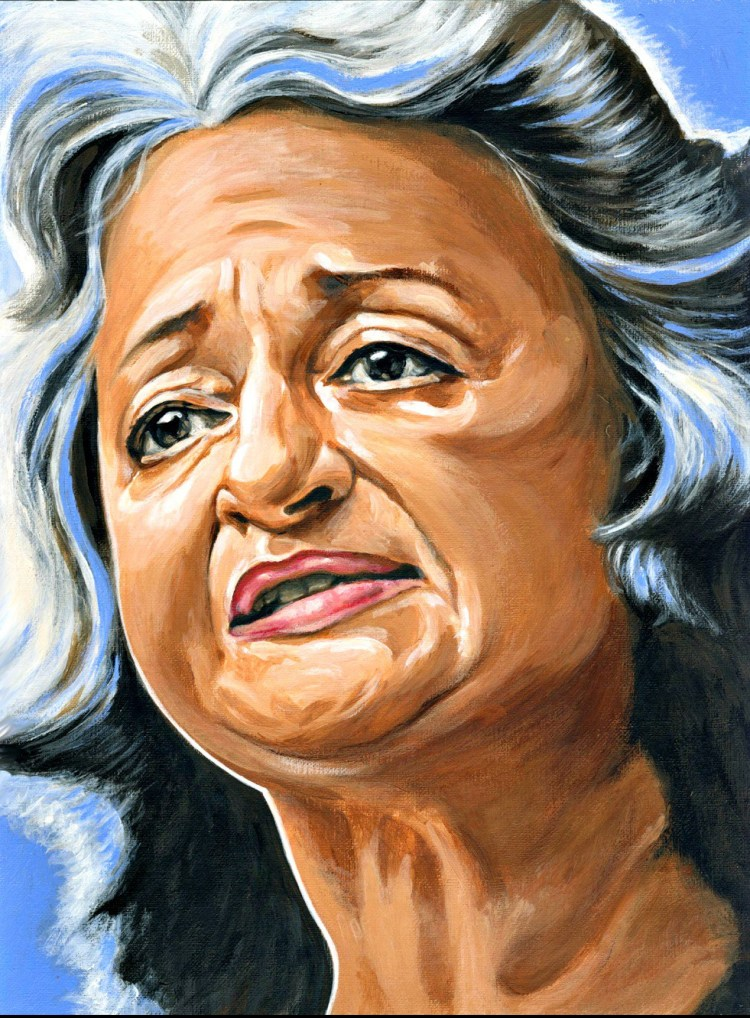 Betty Friedan dibujo de Titina Chalmatzi