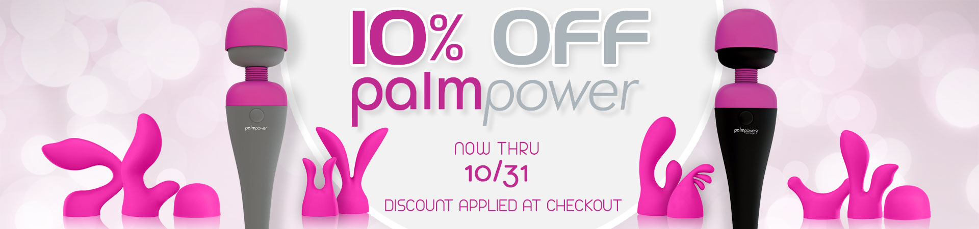 SheVibe October Sale PalmPower Wand Vibrators