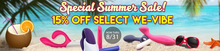 SheVibe Select We-Vibe Toys on Sale