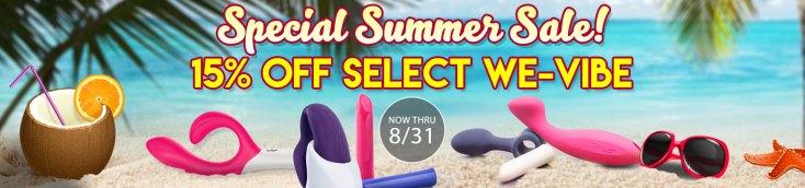 SheVibe Select We-Vibe Toys on Sale
