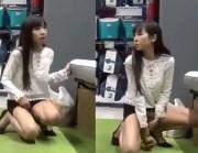 Japinha se masturbando em público