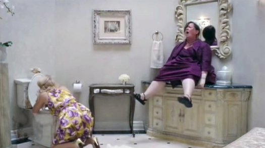 Mujer cagando