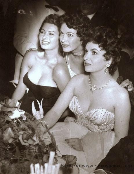 Sofia Loren, Yvonne de Carlo y Gina Lollobrigida