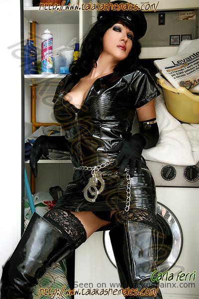Shemale Pornstar Carla Ferri Domination set in laundry